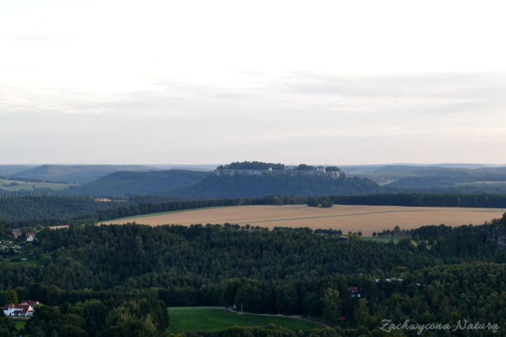 Widok na Twierdzę Königsteinin