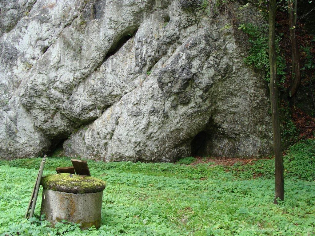 Cechą charakterystyczną tutejszych skałek są okapy skalne rozwinięte u podnoży